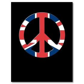 Αφίσα (Ηνωμένο Βασίλειο, σημαία, ειρήνη, Λονδίνο, κουλτούρα)